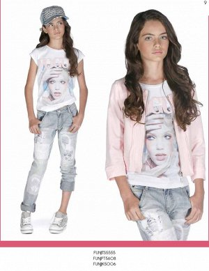 джинсы светлые фирмы Фан фан, размер 40