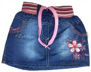 Юбка джинсовая для девочек, 3-4 года. Турция. Р.98