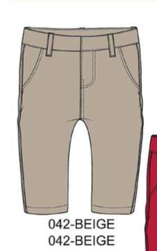 Брюки Хлопковые узкие брюки-чиносы. Регулируемый пояс с внутренней пуговицей.