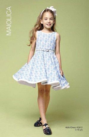 платье с белым ремешком