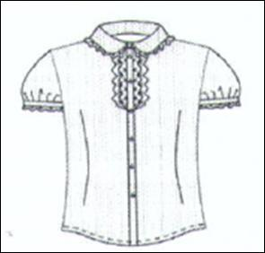 Блузка для школы и не только