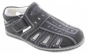Открытые чёрные туфли