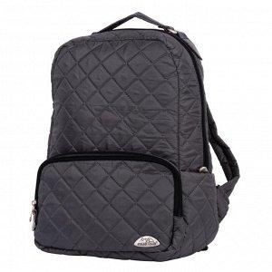 """Рюкзак 28 х 38 х 13, из стеганой ткани. Состоит из одного отделения, внутри которого большой карман на молнии и отделение для ноутбука до 14"""" или планшета. Снаружи расположен объемный карман на молнии"""