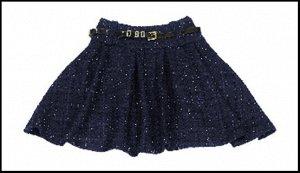 Очень красивая плотная юбка-солнце с ремешком.