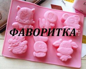 Форма силиконовая для выпечки, розовая