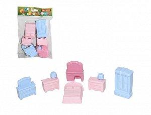 Набор мебели для кукол №1 (6 элементов) (в пакете)