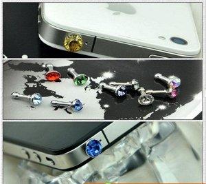 Гвоздик-заглушка на отверстие для наушников на телефоне
