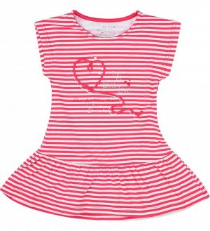Платье Платье с блестками и стразами для девочки. Платье с низкой талией с короткими рукавами. Юбка-клеш. Вышитое сердце.