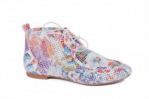 Летние ботиночки из натуральной кожи с перфорацией