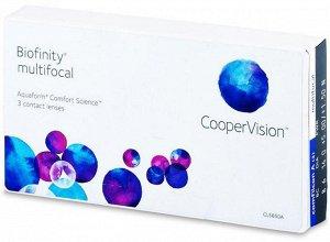 1-мес контактные линзы Biofinity Multifocal(силикон-гидрогель) (3 линзы)