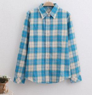 Красивая рубашка на 46-48 размер ,как на картинке , плотная.