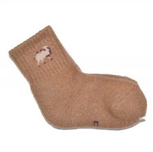 Носки  из верблюжьей шерсти темные (детские)