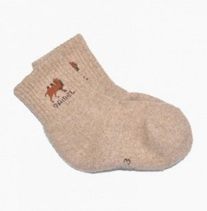 Носки из верблюжьей шерсти светлые (детские)