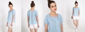 Голубая блузка хб