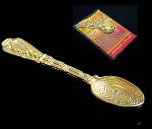 Ложка -загребушка, цвет золото, в упак