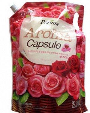 """CJ LION Кондиционер для белья 2100мл """"Pink rose"""" (мягкая упак.)"""