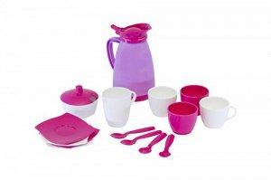 "Набор детской посуды ""Алиса"" на 4 персоны (Pretty Pink)"