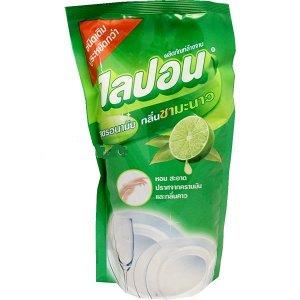 """LION """"Lipon"""" Средство для мытья посуды  500мл (мягкая упак.)  Лимонный чай  Таиланд"""