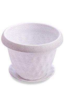 Кашпо Кашпо 1,7л с поддоном [РОЗЕТТА] МРАМОР. Размеры изделия: диаметр 173 мм., высота 135 мм.