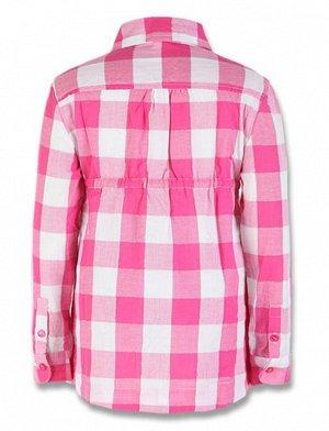Рубашка-туника в клетку с серебряной нитью
