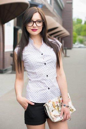 Стильная блузка Fiona . Красивая блуза х.б, на 46-48 размер