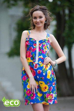 Платье СТАРАЯ ЦЕНА 700,00 Платье из льна. Лёгкое и приятное на ощущение, с двумя карманчиками спереди. На спинке строчки из нитки-резинки, что позволяет платью облегать поясницу. Спереди декоративная