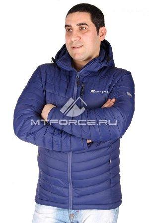 пуховик голубого цвета 48-50р.
