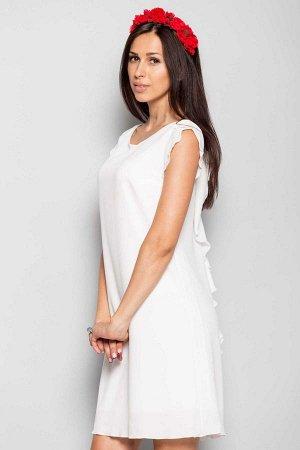 Платье Бирюзовый Состав: креп-шифон, дублированный креп-шифоном (подкладка) Длина изделия: 44р- 85см, 50р- 88см Длина рукава: 44р- 6см,50р- 7,5см Имеет небольшой складской запах, при стирке уходит