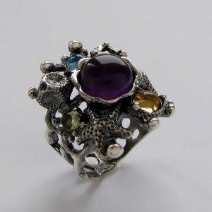 Кольцо серебряное необычный дизайн авторское