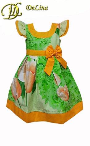 Платье Прежняя цена  400,51 р. Платье выполнено из натуральной хлопчатобумажной цветной ткани Сатин с разнообразными рисунками и однотонной х/б сзади застегивается на замочек и завязывается пояском.28