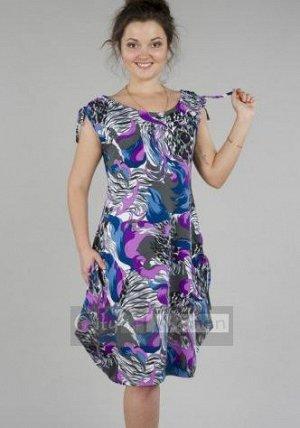 Трикотажное платье 46 размера3