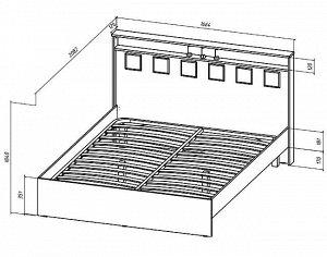 Кровать Коста-Рика 1600 мм.