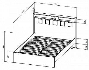 Кровать Коста-Рика 1400мм