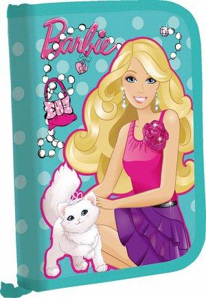 Пенал Пенал жесткий тканевый с клапаном, с креплениями для канцелярских принадлежностей. Размер 20,5 х 14 х 3,5 см, упак. 3//12 шт. Barbie /Barbie 210*140*40 62-10831
