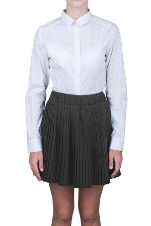 Плиссированная юбка из костюмной ткани, школьная, рост 134, орби