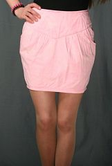 Юбка х/б, цвет *вареный* розовый, на полный 44