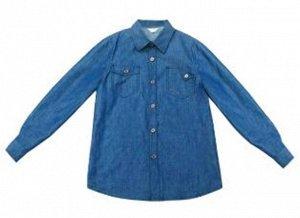 рубашка Рубашка для мальчиков х/б СВЕТЛО-СИНИЙ. Состав: 67%Хлопок  33%Полиэстер