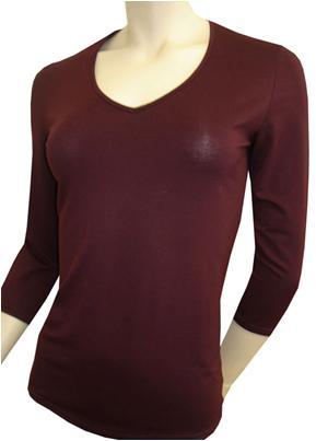 Бордовая блуза из вискозы 46,рукав длинный