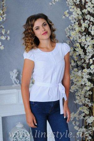 Блузка с поясом,  размер 44