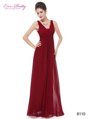 Элегантное шифоновое платье с глубоким V-образным вырезом