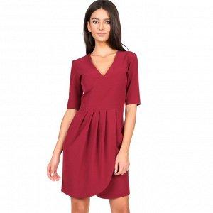 Платье для любого случая! Размер 46-48. Цвет ВИНО! ФОТО!