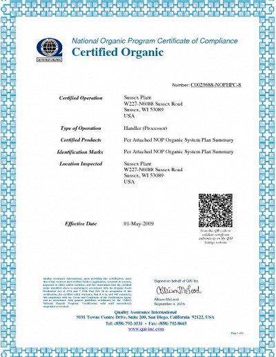 Полезная органика для всей семьи  Nature's Path  хлопья   — Органический сертификат — Продукты питания