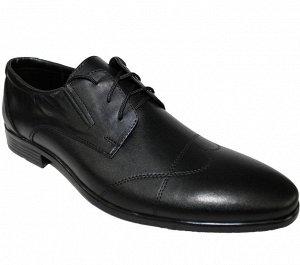 Туфли Натуральная кожа цвет черный