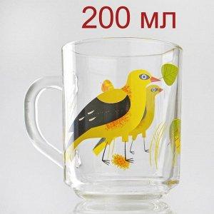 Кружка 200 мл зеленый чай Иволга