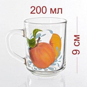 Кружка 200 мл зеленый чай Персик К
