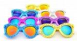 Солнцезащитные очки детские с зеркальными стеклами ажурные