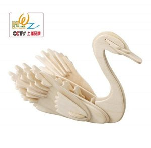 Лебедь Размер упаковки 23*15.5 см; без красок.. Лебедь около 15*8*11 см.
