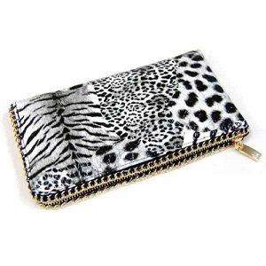Клатч леопардовой расцветки, черно-белый