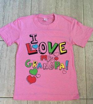 Футболка для девочки с аппликацией, цвет розовый