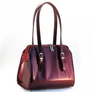 сумка бордо лаковая